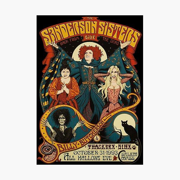 Sanderson Sisters Halloween Photographic Print