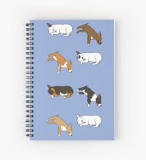 Lazy Bull Terrier - Blue Spiral Notebook