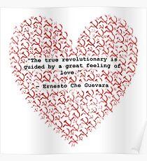 Revolutionary Love Che Guevara Heart Poster