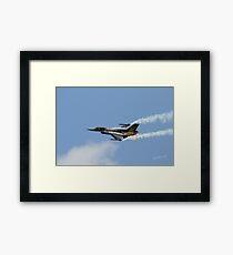Turkish F16 at Waddington Airshow Framed Print