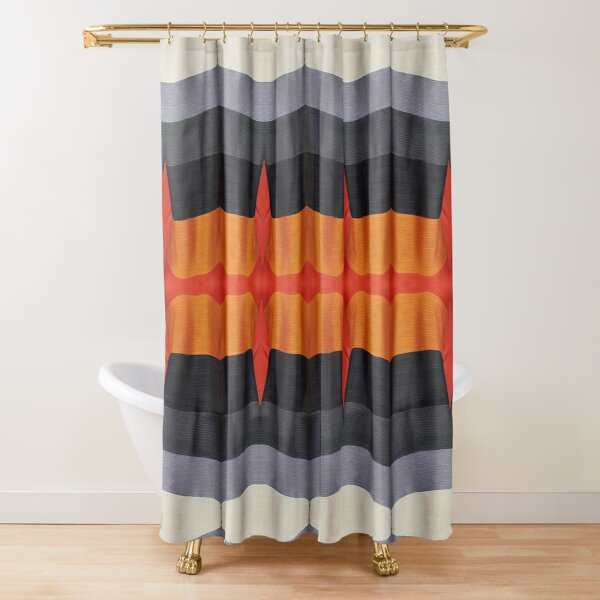 #textile, #design, #pattern, #decoration, art, abstract, illustration, curtain Shower Curtain