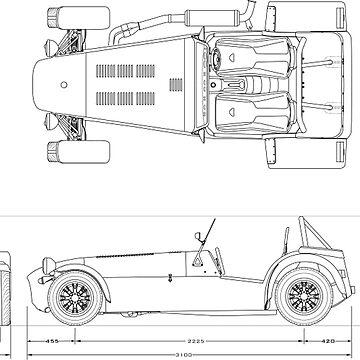 Caterham Seven Blueprint by BlackArtGraphx