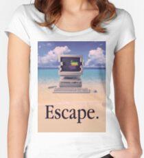 Vaporwave Macintosh Women's Fitted Scoop T-Shirt