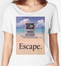 Vaporwave Macintosh Women's Relaxed Fit T-Shirt