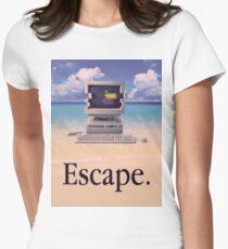Vaporwave Macintosh Womens Fitted T-Shirt