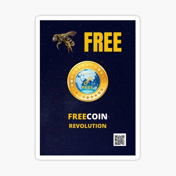 Abeille gratuit, Freecoin Sticker