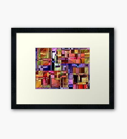 Artificial Boundaries Framed Print