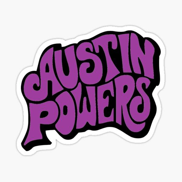 Austin Powers Logo Sticker