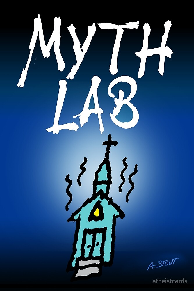 MYTH LAB  (Light background) by atheistcards