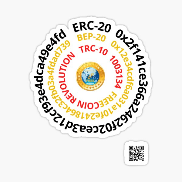 FREEcoin smartcontracts adresses Sticker