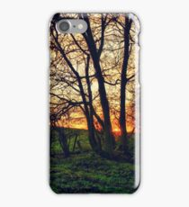 English Countryside Sunset HDR  iPhone Case/Skin