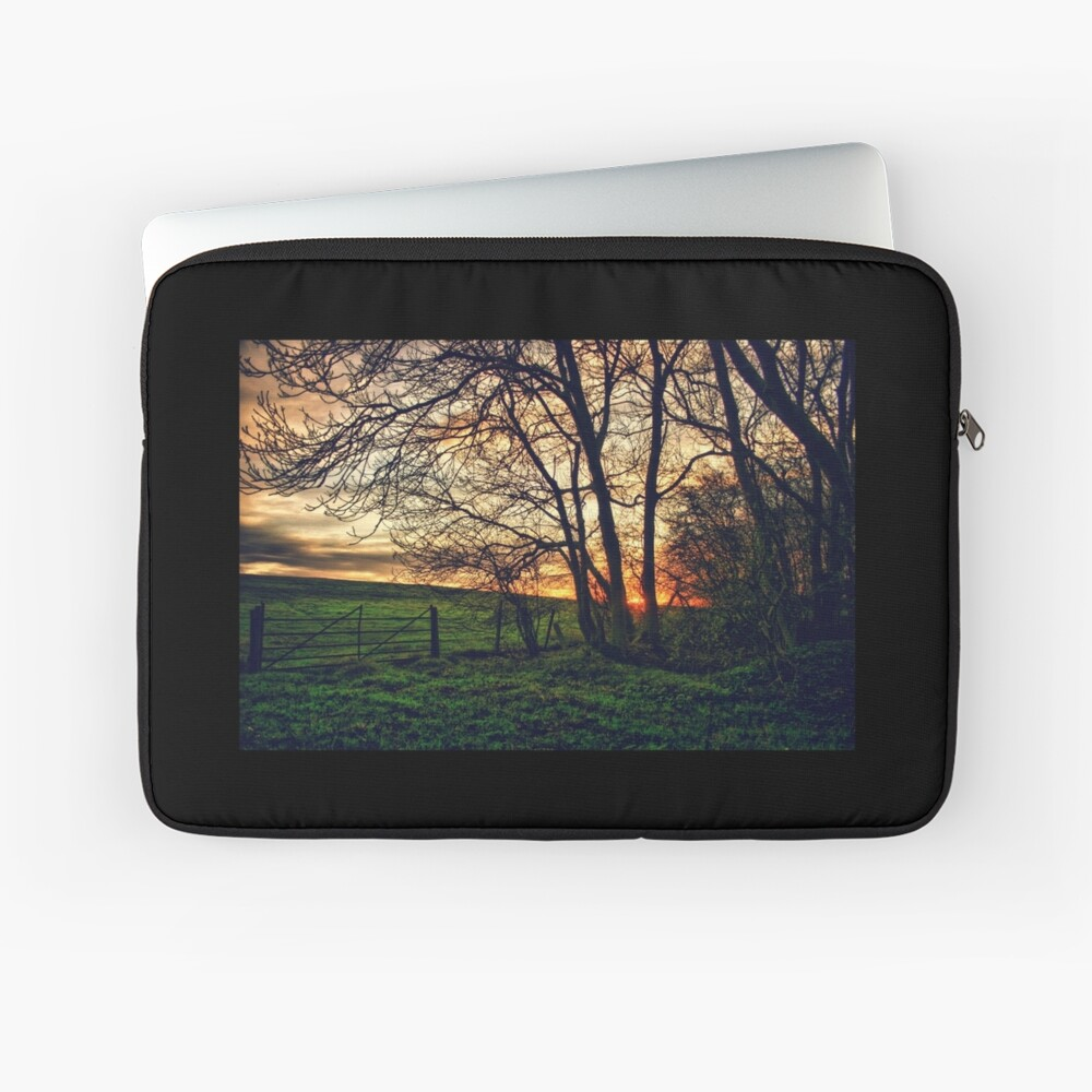 English Countryside Sunset HDR  Laptop Sleeve Front