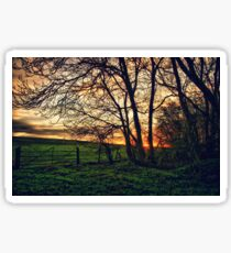 English Countryside Sunset HDR  Sticker