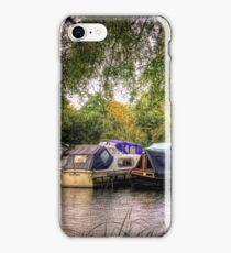 Moored Up boats HDR iPhone Case/Skin