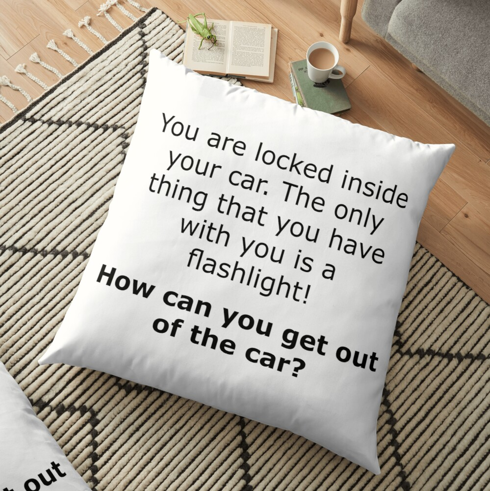 Complex Riddle - Escape From The Car Series Floor Pillow