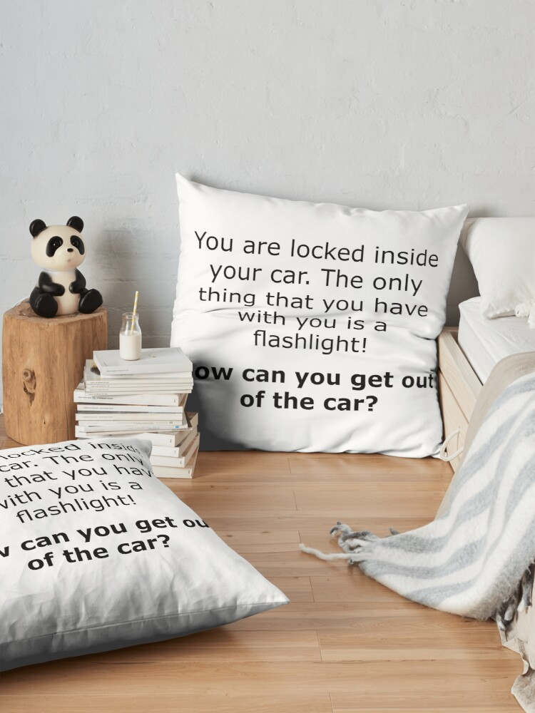 Alternate view of Complex Riddle - Escape From The Car Series Floor Pillow