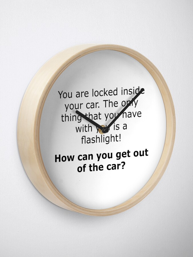 Alternate view of Complex Riddle - Escape From The Car Series Clock