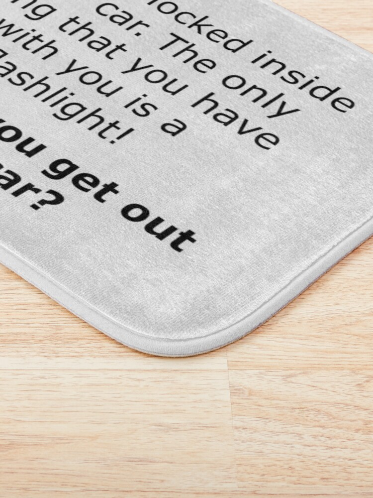 Alternate view of Complex Riddle - Escape From The Car Series Bath Mat