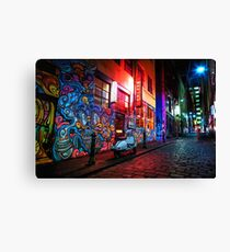 Evening in Hosier Lane Canvas Print