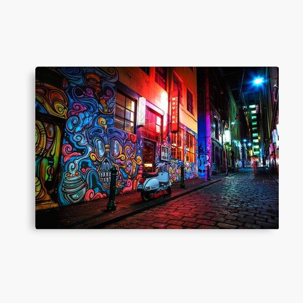 Evening in Hosier Lane Canvas Print