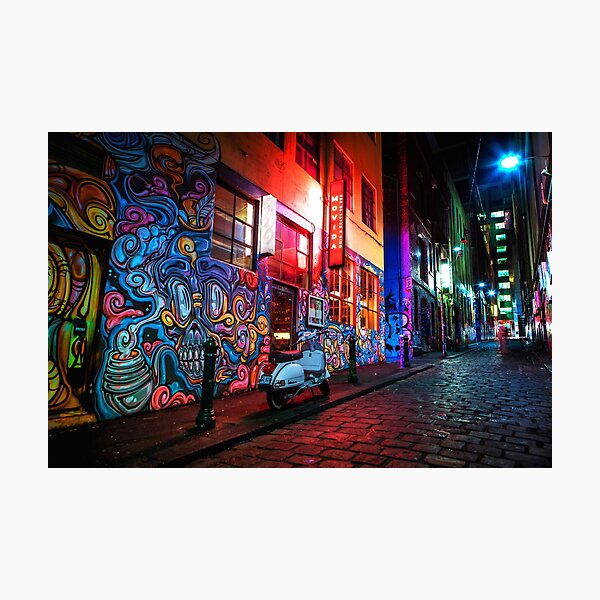 Evening in Hosier Lane Photographic Print