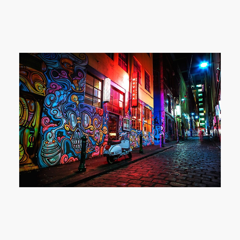 hosier lane melbourne street graffiti  A0 Canvas print Australia ART PAINTING