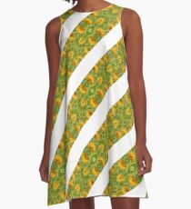 Indian Floral Stripes Pattern A-Line Dress