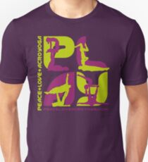 P+L+AY Poses: Green & Purple Square T-Shirt