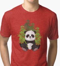 Camiseta de tejido mixto Panda alto