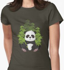 High panda Womens Fitted T-Shirt