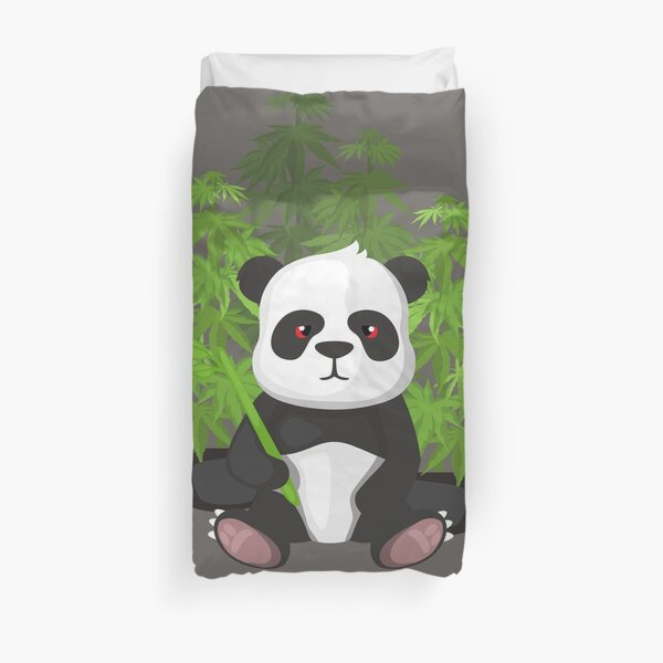 High panda Duvet Cover