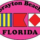GRAYTON BEACH FLORIDA EURO OVAL NAUTICAL FLAG PINK  2 by MyHandmadeSigns