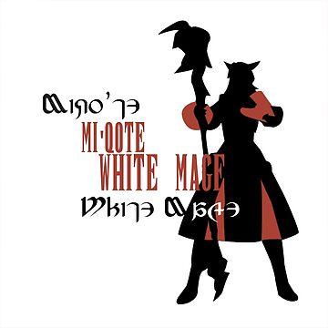Miqo'te White Mage (Female) by quirkyquail