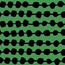 Dots in Rows - Green by Andrea Lauren von Andrea Lauren