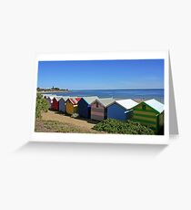 Brighton Beach Boxes - Victoria - Australia Greeting Card