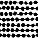 Dots in Rows  - WB by Andrea Lauren von Andrea Lauren