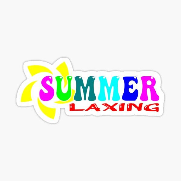 Summer Laxing Sticker