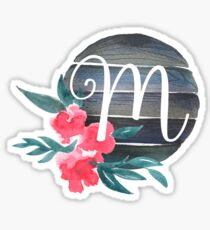 Floral Monogram M Sticker