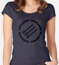 Antifascist arrows Women's Fitted Scoop T-Shirt