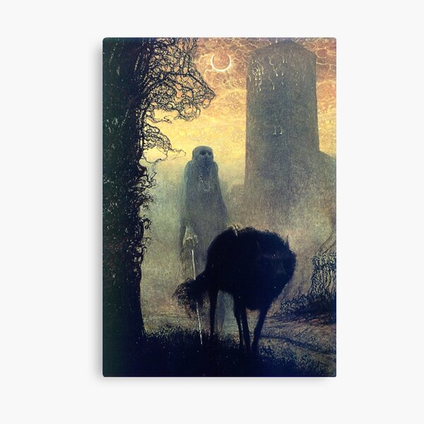 Untitled (Shepherd), by Zdzisław Beksiński Canvas Print