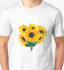 Painted sunflower bouquet Unisex T-Shirt