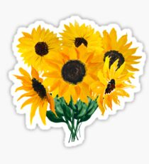 Painted sunflower bouquet Sticker