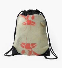 Grasshoppers on the Trail Drawstring Bag