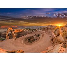 Sunset at Delicate Arch, Utah. Photographic Print