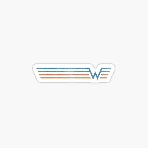 Weezer Color Stripe christmas  Sticker