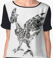 Skarmory used steel wing Women's Chiffon Top