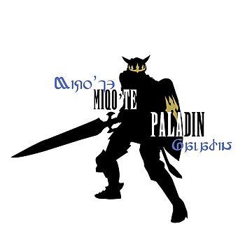 Miqo'te Paladin by quirkyquail