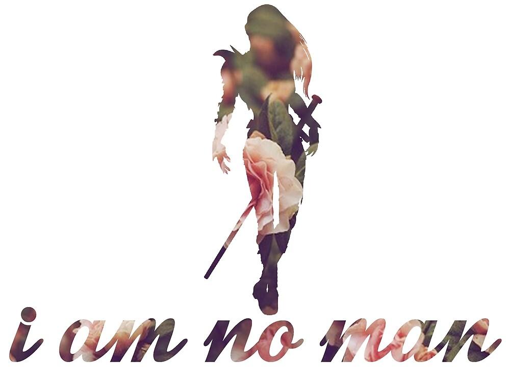 I Am No Man - Design 2 by paperbouquet