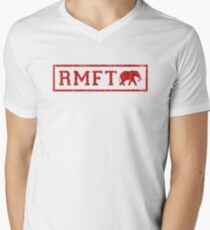Vintage RMFT - light Men's V-Neck T-Shirt