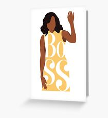boss, michelle obama Greeting Card